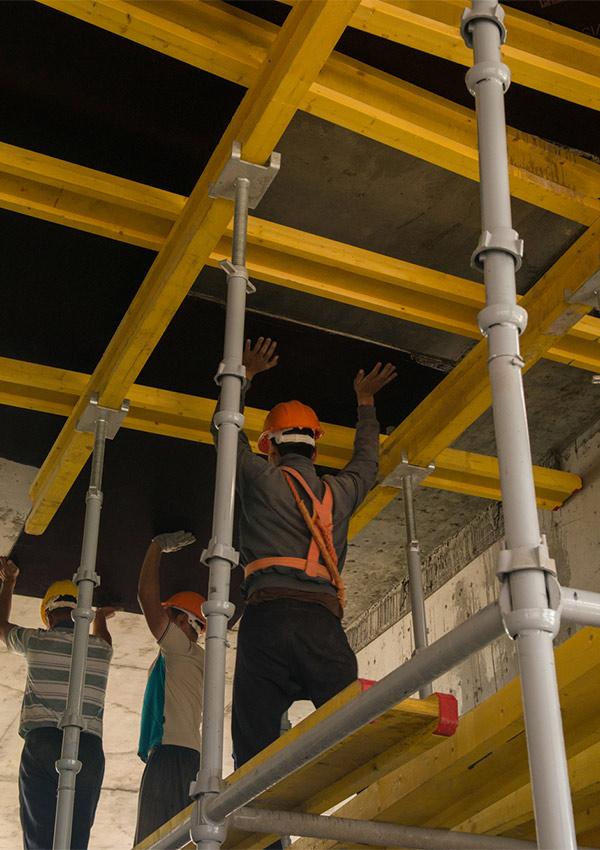 Raumgerüst Arbeiter Gerüstbau Gerüst